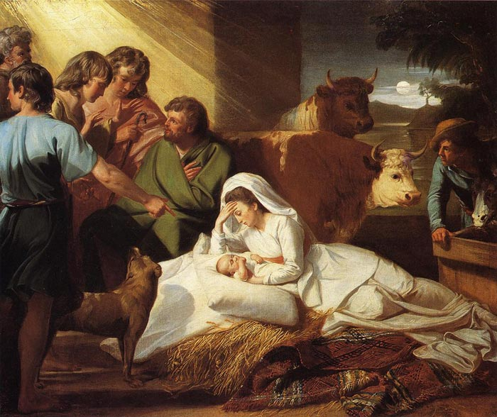 Paintings Reproductions Copley, John Singleton The Nativity, 1776-1777