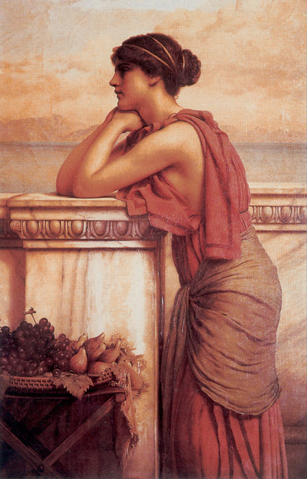 John William Godward Reproductions-By the Wayside, 1912