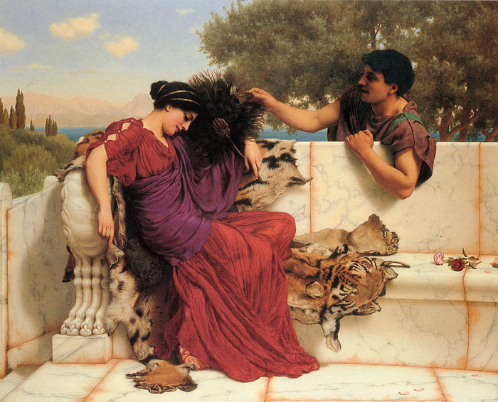 John William Godward Reproductions-The Old, Old Story