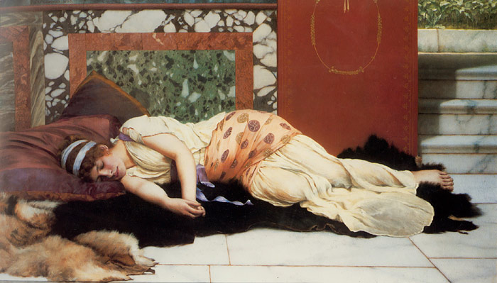 Paintings Reproductions Godward, John William Endymion, 1893