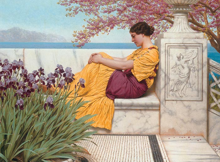 John William Godward Reproductions-Under the Blossom that Hangs on the Bough', 1917
