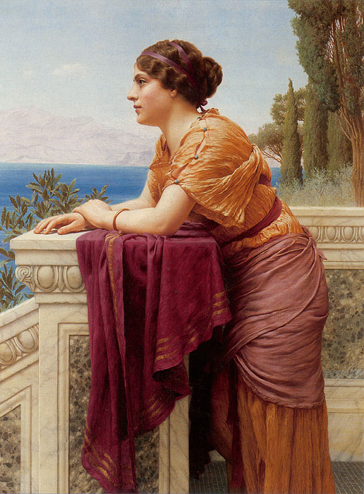 John William Godward Reproductions-The Belvedere, 1913