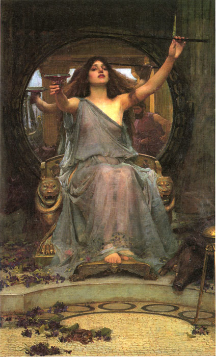 John William Waterhouse Reproductions-Circe offering the Cup to Ulysses, 1891