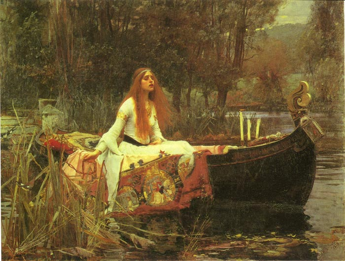 The Lady of Shalott, 1888 Waterhouse, John William Painting Reproductions