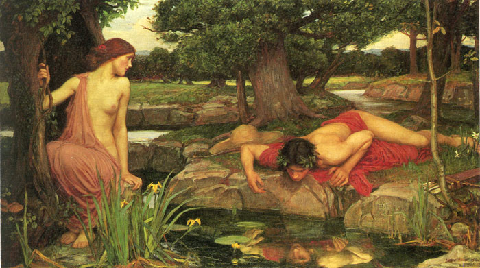 Paintings Reproductions Waterhouse, John William Echo and Narcissus, 1903
