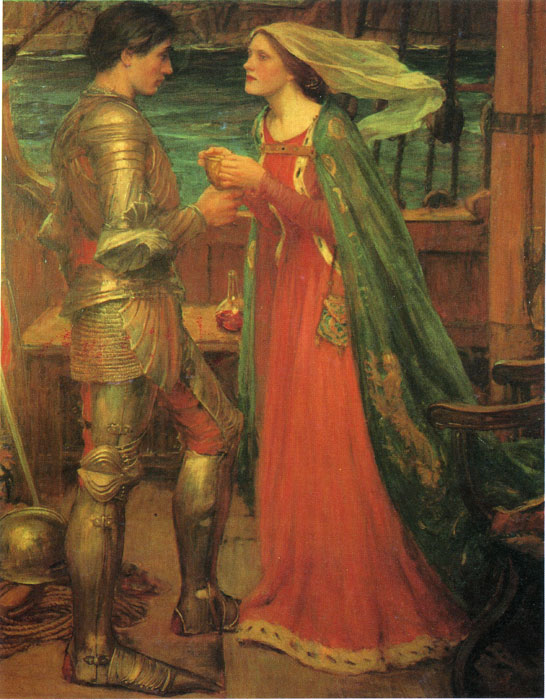 Paintings Reproductions Waterhouse, John William Tristan and Isolde with the Potion