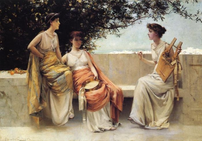 Paintings Reproductions Jones, Francis Coates Sappho, 1895