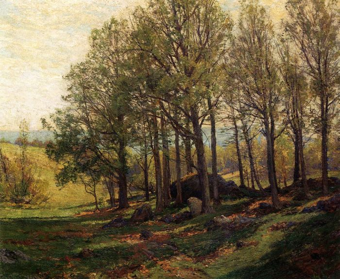 Paintings Reproductions Jones, Hugh Bolton Maples in Spring