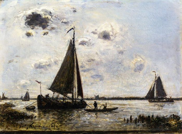 Paintings Reproductions Jongkind, Johan Barthold Near Dordrecht, 1870