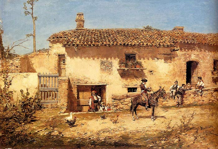 Paintings Reproductions Gil, Jose Benlliure y A Spanish Farm