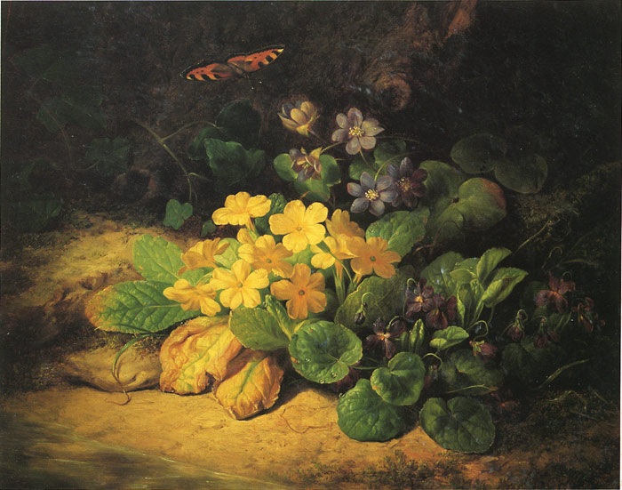 Paintings Reproductions Lauer, Josef Kleines Blumenstuck, 1830