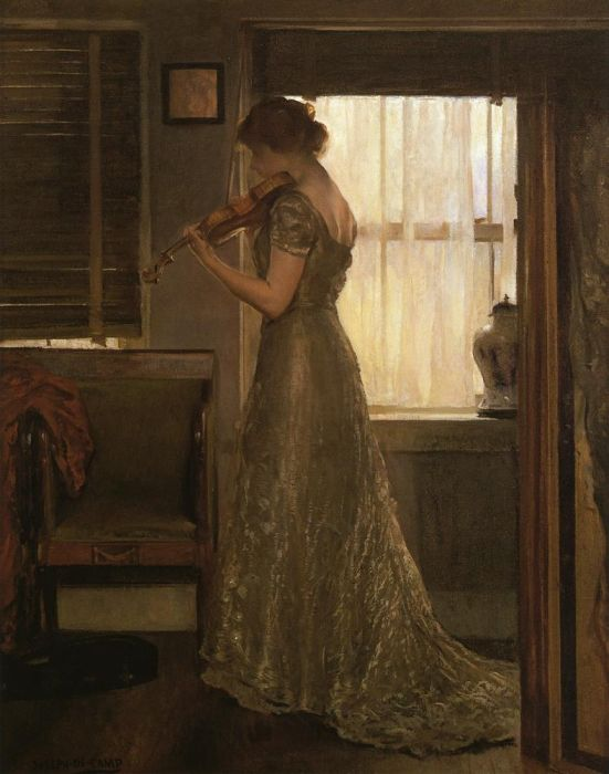 Paintings Reproductions Decamp, Joseph Girl with a Violin III, 1902