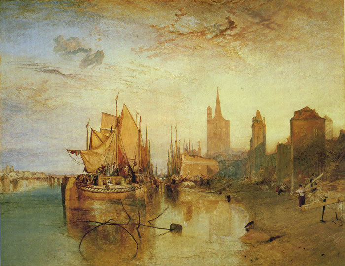 Cologne:The Arrival of a Packet Boat, 1826 Turner, Joseph Mallord William Painting Reproductions