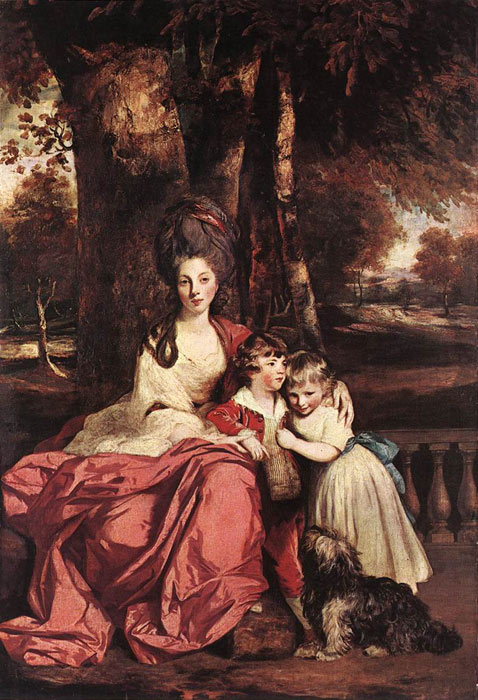 Joshua Reynolds Reproductions-Lady Delm and her Children, 1777-1780
