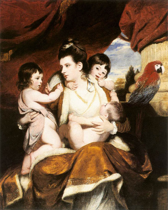 Paintings Reproductions Reynolds, Joshua Lady Cockburn and her three eldest Sons, 1773