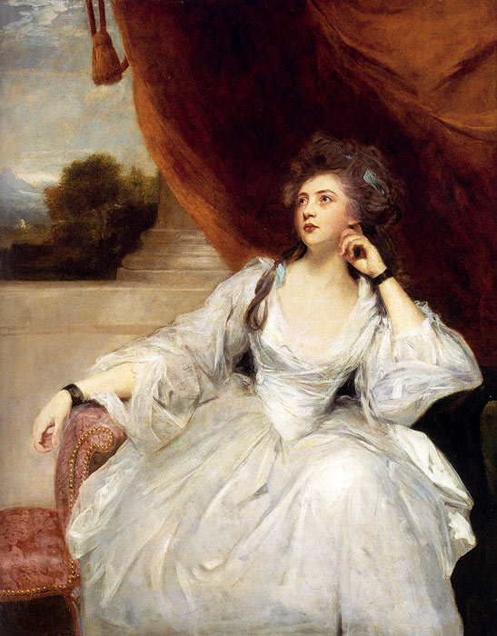 Joshua Reynolds Reproductions-Portrait Of Mrs. Stanhope