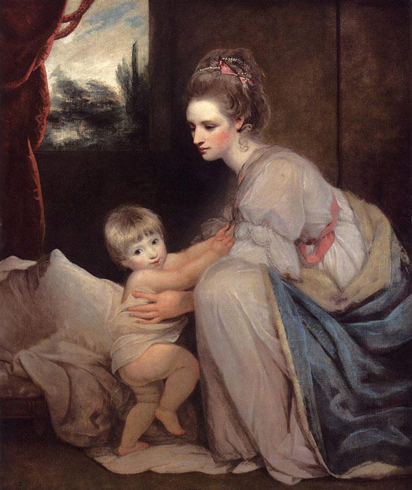 Joshua Reynolds Reproductions-Portrait Of The Hon. Mrs. William Beresford