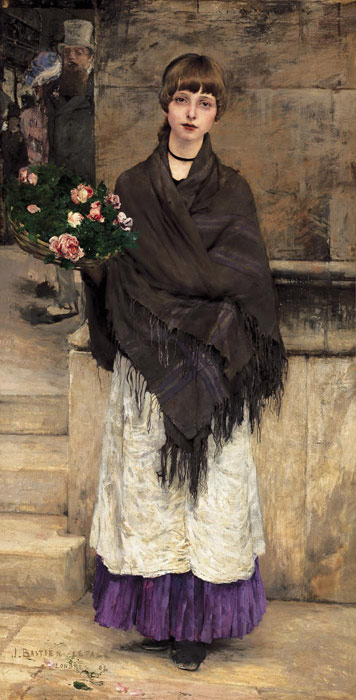Jules Bastien- Lepage Reproductions- Flower-seller in London,1882