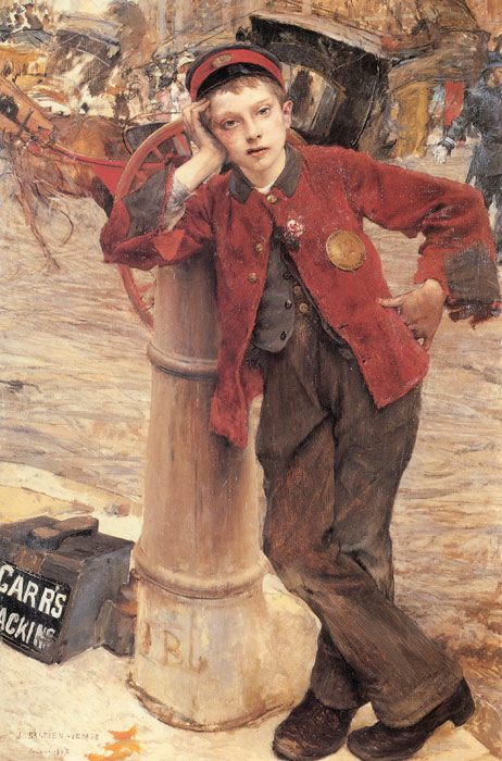 Jules Bastien- Lepage Reproductions-The London Bootblack, 1882