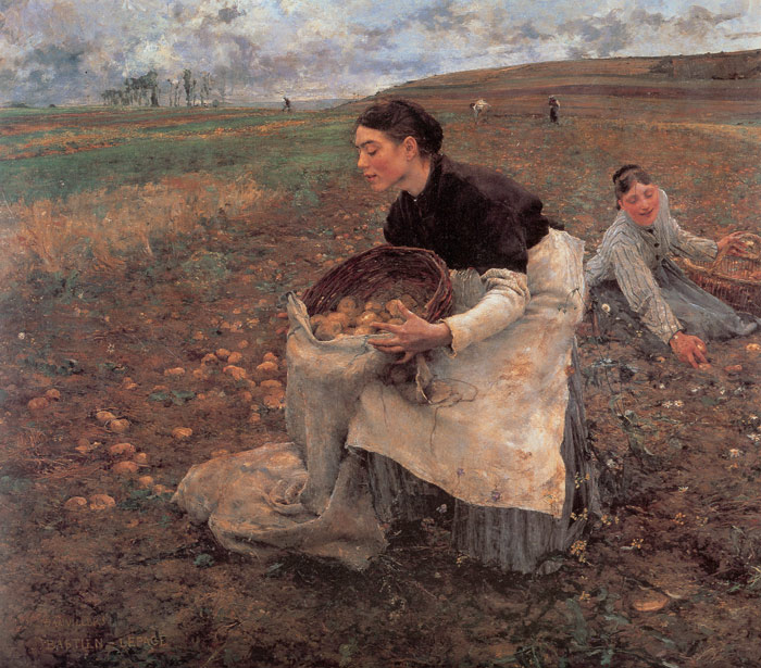 Jules Bastien- Lepage Reproductions-October: Gathering Potatoes,1879