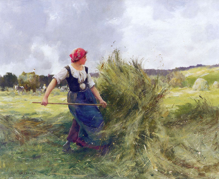 Paintings Reproductions Dupre, Julien La Faneuse [The Haymaker]