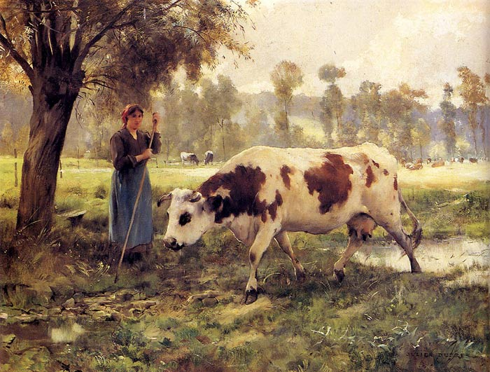 Paintings Reproductions Dupre, Julien Cows At Pasture
