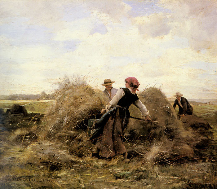Julien Dupre Reproductions-The Harvesters, 1889