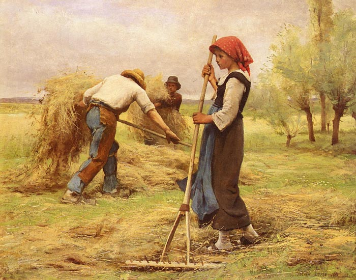 Paintings Reproductions Dupre, Julien La Recolte Des Foins [The Harvesting of the Hay], 1881