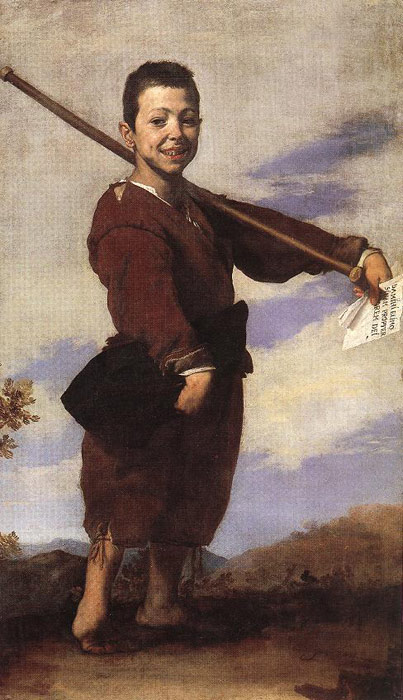 Paintings Reproductions Ribera, Jusepe de Clubfooted Boy,  1642