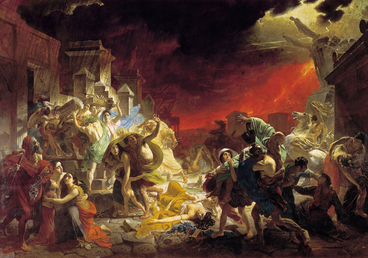 Karl Pavlovich Brullov Reproductions-The Last Day of Pompei, (1830-1833)
