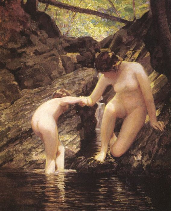 Paintings Reproductions Kendall, William Sergeant Bathers, 1917