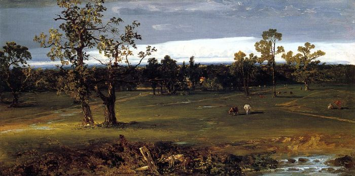 Paintings Reproductions Kensett, John Frederick At Pasture, 1844