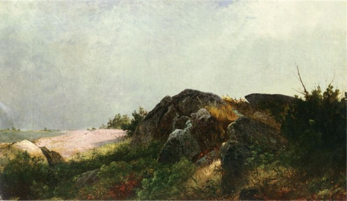 John Frederick Kensett Reproductions-Clearing Off