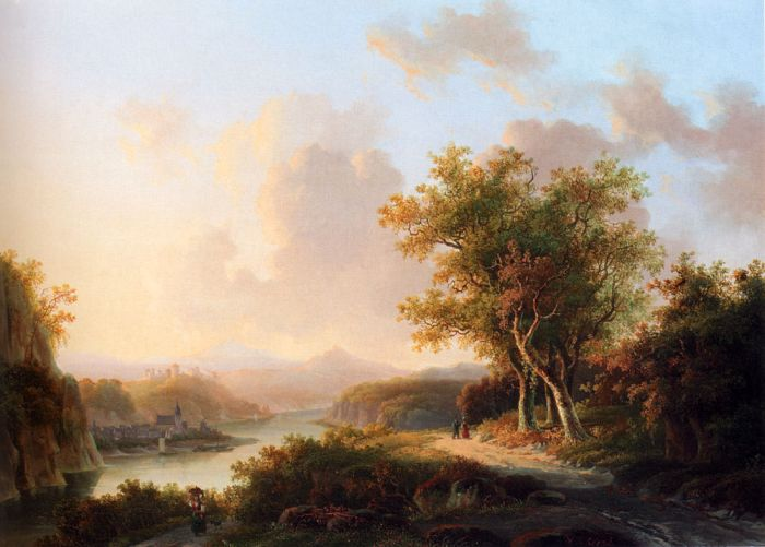 Willem De Klerk Reproductions-A Rhenish Summer Landscape