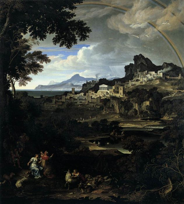 Paintings Reproductions Koch, Joseph Anton Mountain Scene, 1796