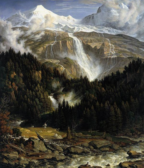 Paintings Reproductions Koch, Joseph Anton The Schmadribach Falls, 1821