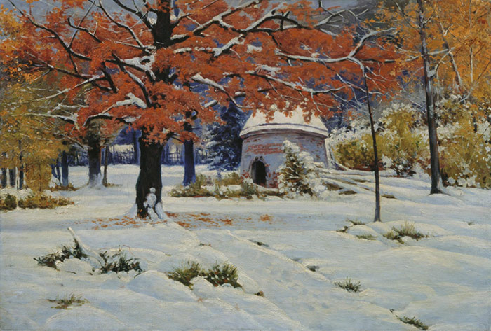 An Early Snow Kryzhitskii, Konstantin Iakovlev Painting Reproductions