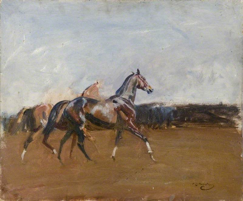 Custom PaintingsReproductions-9 Munnings paintings, ageing effect included