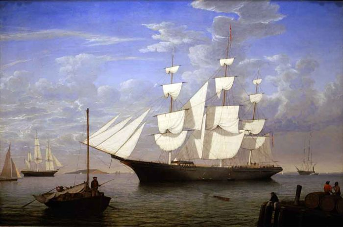 Fitz Hugh Lane Reproductions-'Starlight' in Harbor, 1855