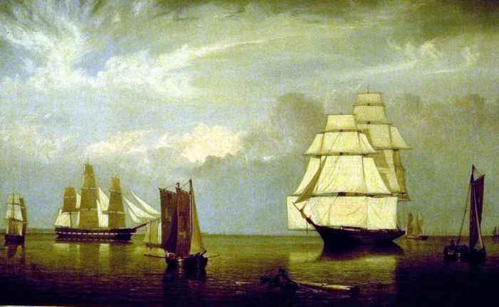 Fitz Hugh Lane Reproductions-Salem Harbor, 1853