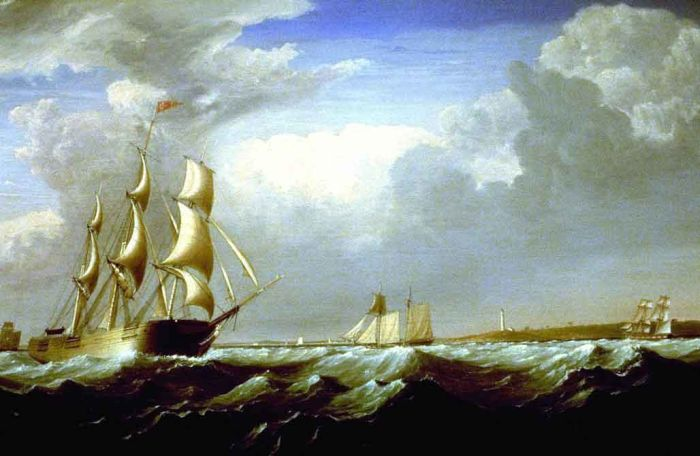 Fitz Hugh Lane Reproductions-Sailing Ships Off the New England Coast, 1824