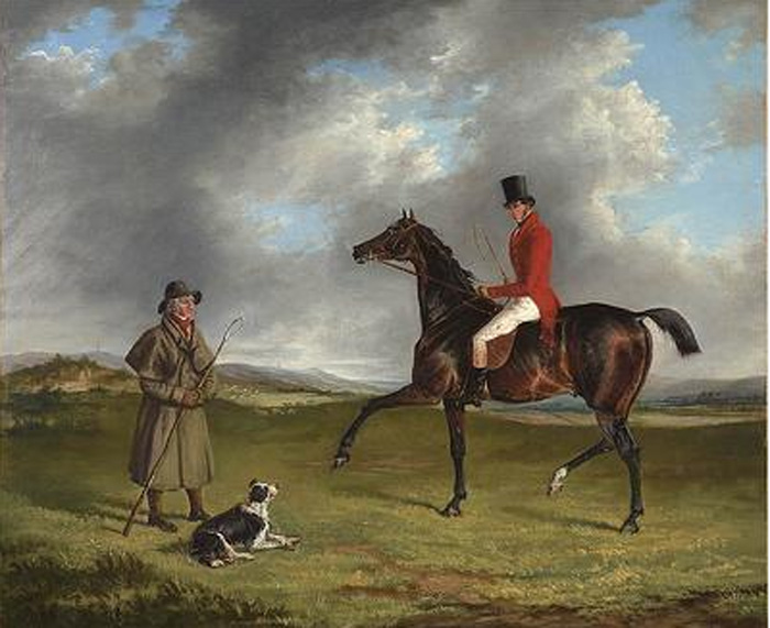 George Henry Laporte Reproductions-A sportsman thrown out, enquiring of a shepherd, 1830