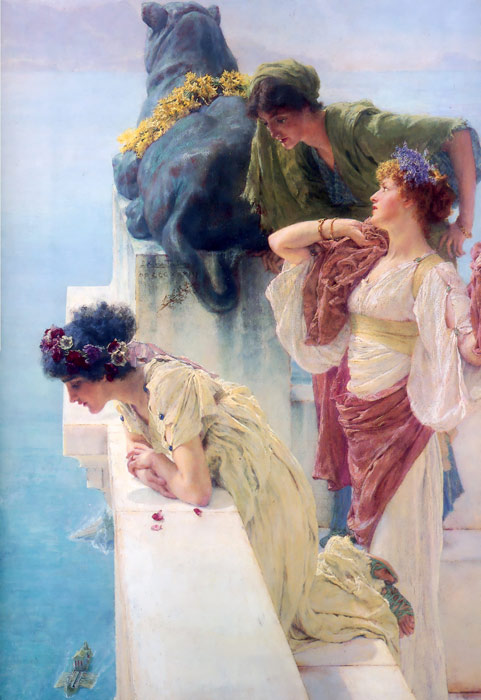 Sir Lawrence Alma-Tadema Reproductions-A Coign of Vantage, 1895