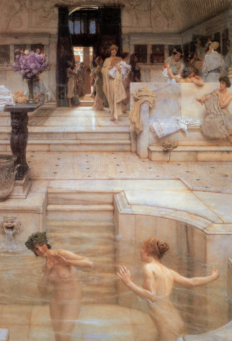 Sir Lawrence Alma-Tadema Reproductions-A Favorite Custom, 1909