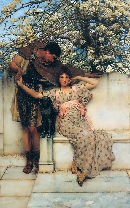 Sir Lawrence Alma-Tadema Reproductions-Promise of Spring, 1890