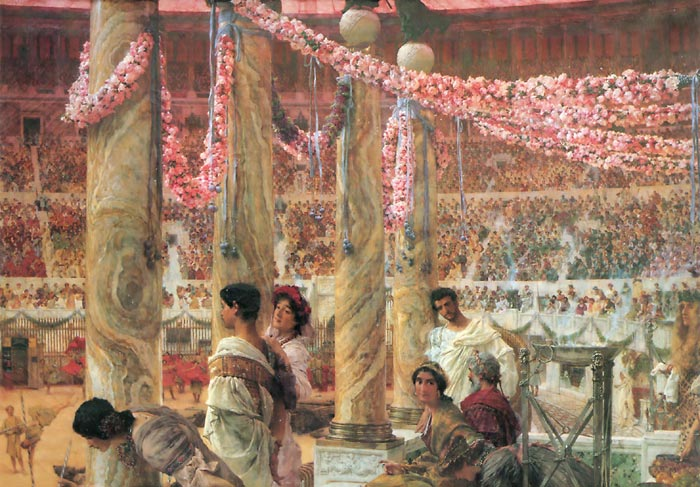 Paintings Reproductions Alma-Tadema,Sir Lawrence Caracalla and Geta, , 1909