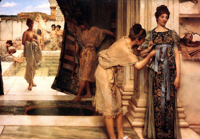 Sir Lawrence Alma-Tadema Reproductions-The Frigidarium, 1890