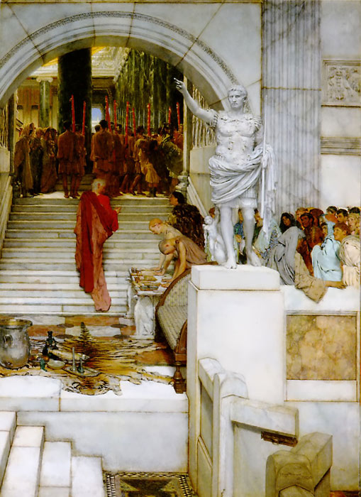 Sir Lawrence Alma-Tadema Reproductions-After the Audience, 1879