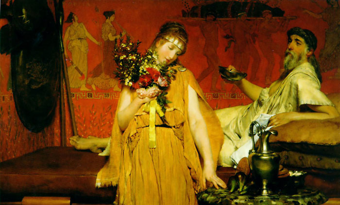 Paintings Reproductions Alma-Tadema,Sir Lawrence Between Hope and Fear, 1876