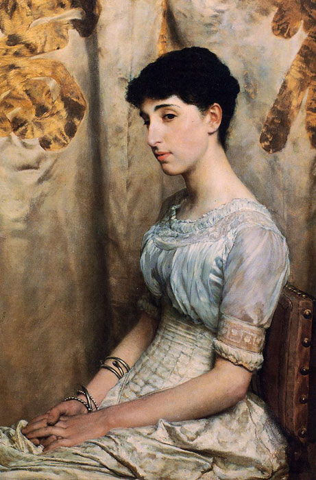 Sir Lawrence Alma-Tadema Reproductions-Miss Alice Lewis,  1884